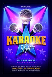 Affiche karaoké à Troyes