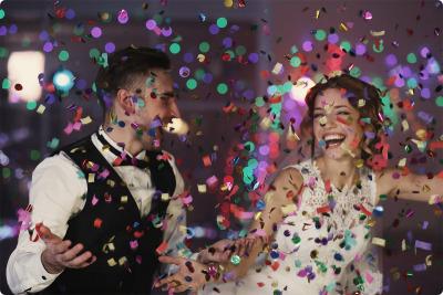 Effet La machine à confetti DJ mariage