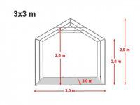 Location de tente de réception dans l'aube 3x3m