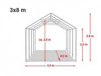 Location de tente de réception dans l'aube 3x8m