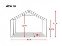 Location de tente de réception dans l'aube 4x4m