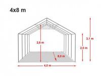Location de tente de réception dans l'aube 4x8m