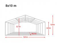 Location de tente de réception dans l'aube 8x10m