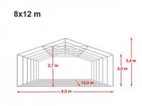Location de tente de réception dans l'aube 8x12m
